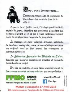 FFMC action 30 mars